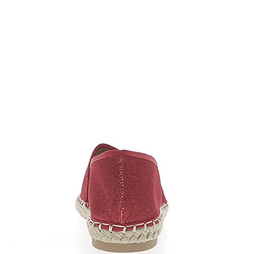 Ballerina-rot glitter Leinwand und Seil Blick Turnschuhe zu beenden