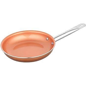 Amazon Com Culinary Edge 9 5 Inch Ceramic Copper Pro Pan