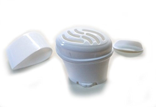 Empty Gel Deodorant Containers - BPA Free Plastic, Twist-up, Top-Fill, Gel squeezes up through slots in the top (6-Pack)