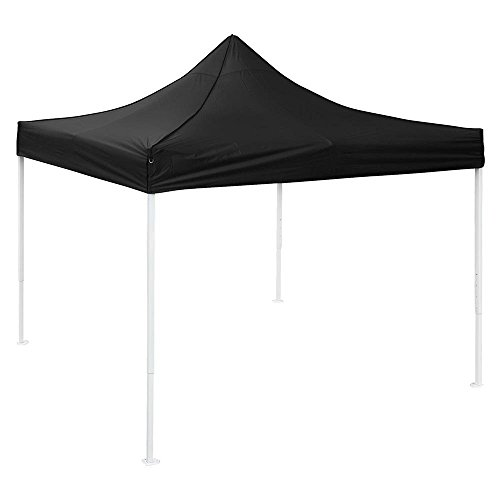 Black Ez Pop Up Instant Waterproof Canopy 10'X10' Replacement Top Gazebo Cover Patio Pavilion Sunshade For Stadium Beach Camping Wedding Outdoor Party Event by Generic