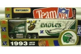 Philadelphia Eagles 1993 Ford Aeromax Tractor Trailer NFL Diecast Matchbox Truck Car Collectible