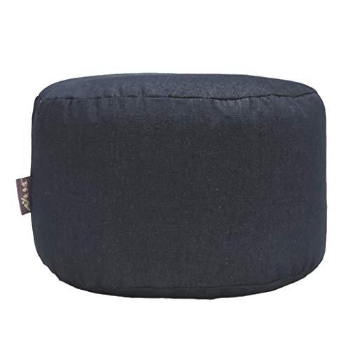 B Blesiya Dark Blue Round 45cm Denim Cloth Ottoman Pouf Cover Footstool Slipcover Cool Kids Chair Cover Room -