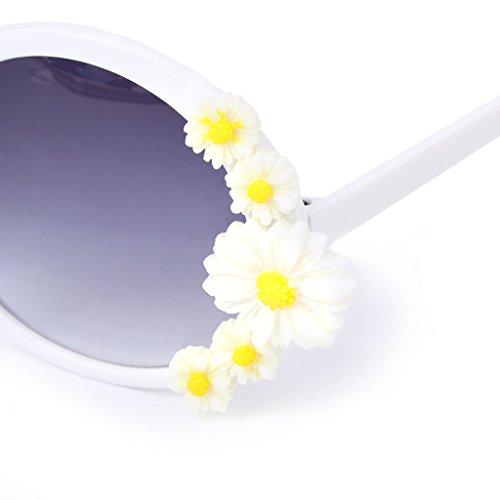 De Ronde Soleil 5 Fleur Protection Soleil Lunettes Mode Lunettes UV Femmes Lunettes Lady Exing Plage FtxqdU11