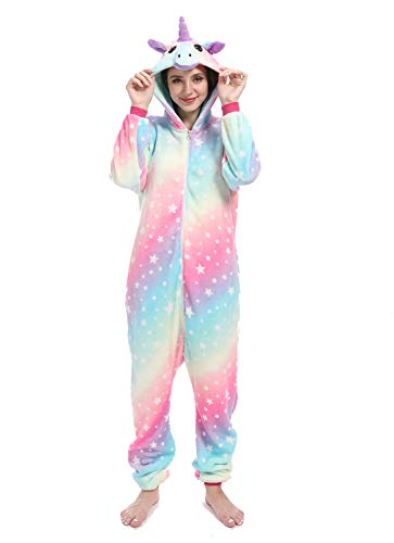 Premium Unicorn Onesie Adult Animal Pajamas for Women Halloween Cosplay Costumes - http://coolthings.us