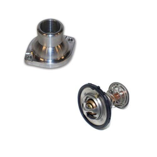 Water Billet Neck (CBM Motorsports - CBM-10610 Billet water neck + 180 thermostat + gasket LS3 L92 LSX pump housing)