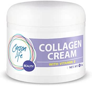 CARSON LIFE Collagen Beauty Cream With Vitamin E - 4 Oz - Marvelously Rejuvenate Skin & Prevent Wrinkles - Keep Your Skin and Face Healthy - Made in the USA