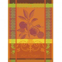 garnier-thiebaut-oranges-sanguine-french-woven-kitchen-tea-towel-100-percent-cotton