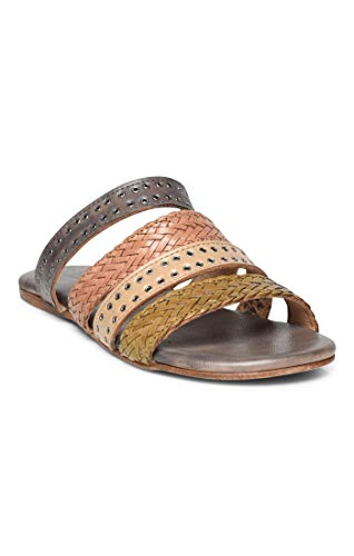 (Bed|Stu Women's Henna Leather Sandal (7 M US, Cashew Bone Clay Light Grey Rustic))