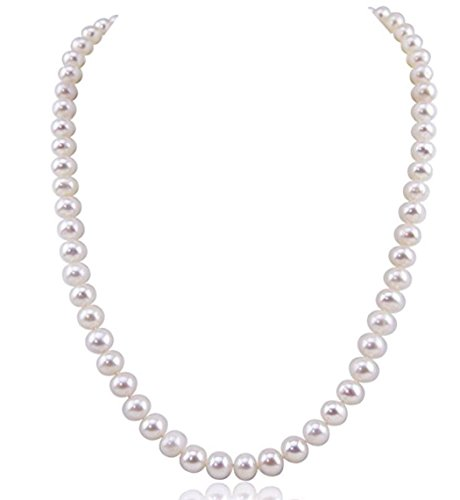 Forever Love Natural A+ White Cultured Freshwater Pearl Necklace 18