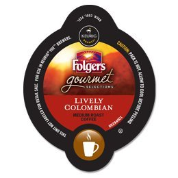 16 Count - Folgers Gourmet Selections Lively Colombian Coffee Vue Cup For Keurig Vue Brewers