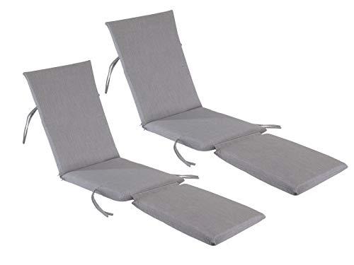 kingrattan.com Made in USA Steamer Chair Cushion Sunbrella Canvas Granite (2-Pack) ()