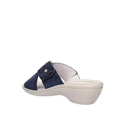 12761 In Ciabatta Donna Scarpa soft Made Enval Italy Bleu Pelle Blu 1wXIx5xq8
