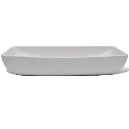 Daonanba Durable Stylish Luxury Premium Ceramic Basin Rectangular Sink White 28'' x 15'' by Daonanba (Image #4)
