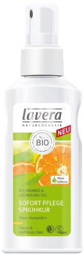 lavera Hair Pro Sofort Pflege Sprühkur Bio Orange - Haarpflege feines kraftloses Haar 4er Pack (4 x 125 ml)
