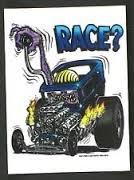 Hot Rod Decal (Rat Fink RACE ?? Hot Rod Decal / Sticker)