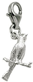 Canary Bird Charm - Rembrandt Charms Canary Charm with Lobster Clasp, Sterling Silver