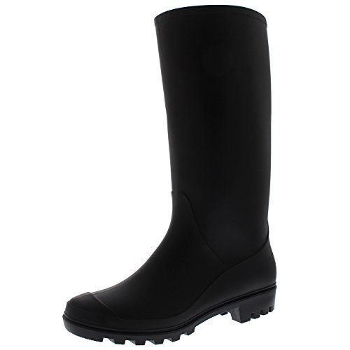 Polar Products Womens Original Tall Winter Snow Wellingtons Muck Waterproof Boots - Black - US8/EU39 - BL0276