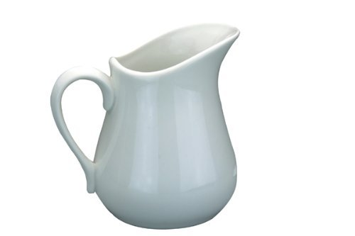 High Quality 0.0251 Litre Apollo Porcelain Ceramic White Milk Cream Sauce Jug