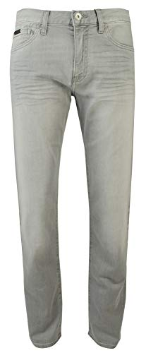 Men Armani Pants Jeans - A|X Armani Exchange Men's Grey Loose fit Jeans, Denim, 38