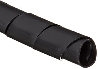 "Morris Products 22117 Spiral Wrap, Uv Black, 0.79 - 5.12"" Bundle Range, 33ft Length"