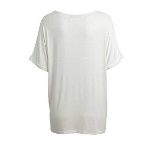 Manche Blanc Et Qualit Cou Bonne Haut Mode Top Casual Tee Manches Courtes Tshirt Uni De Branch Shirt Shirt Elgante Femme V Bouffant Chic 8xqqw6BR