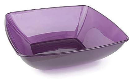 MOZAIK Insalatiera di plastica quadrata color melanzana da 28 cm (3 ...