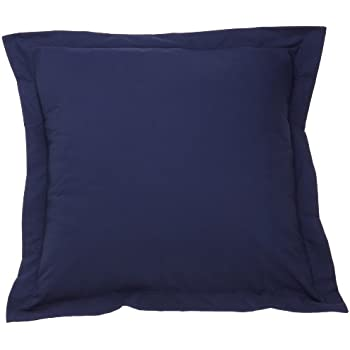 Fresh Ideas European Tailored Poplin Pillow Sham, Navy