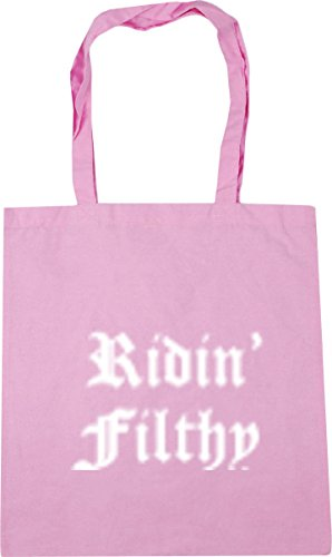 Hippowarehouse Mujer Rosa Playa De Algodón Bolsa r1xaq0Hr