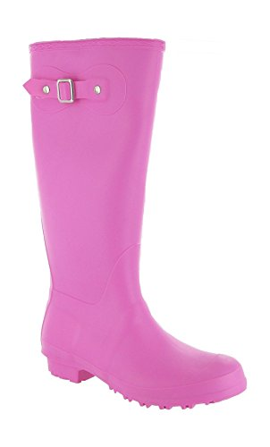 Cotswold Pull-On Self-Lined Wellingtons - Black - Size 4 5 6 7 8 rosa - fucsia