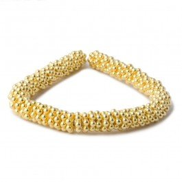 4mm Vermeil Daisy Spacer Beads 4 inch 78 beads
