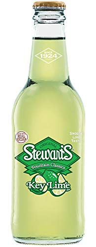Stewart's Key Lime Soda, 12 fl oz (12 Glass Bottles)