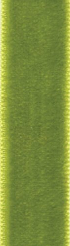 - Entertaining with Caspari  Moss Green Velvet Thin Ribbon, 4-Yard