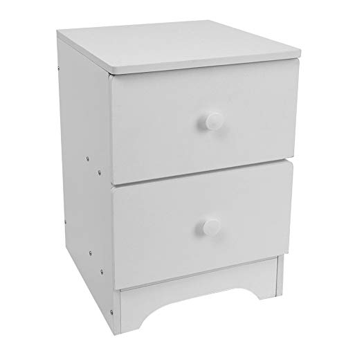 Leadmall Nightstand Bedside Cabinet | Bedside 2 Storage Drawer End Table for Bedroom | Sofa Bed Beside Night Stand File Cabinet Modern Home Furniture Simple (White) (White Bedside Cabinets Sale)