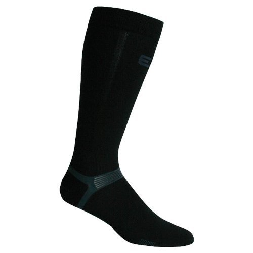 Elite Hockey Pro-X700 Ultra Sport Bamboo Knee Sock (Black, Medium)