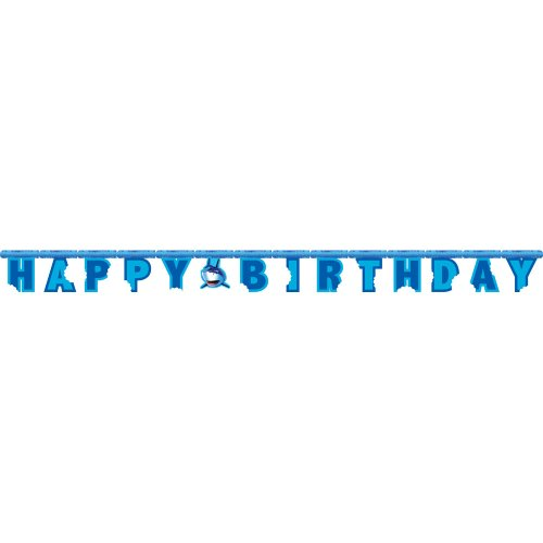 Jointed Happy Birthday Banner, Shark Splash]()