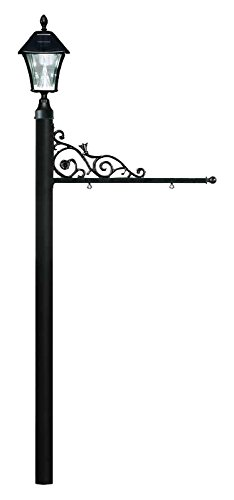 Qualarc REPST-000-BL-SL Prestige Powder Coated Aluminum Real Estate, Business and Yard Sign, with Bayview Solar Lamp in Black, Ships in 2 (Bayview Solar Light)