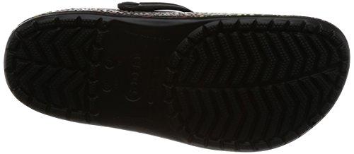 Crocs Unisex Adults' Crocband Leopard III Clogs Black (Black) o4RdcGCK