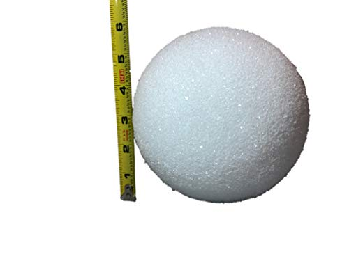 White Styrofoam Balls for Arts and Crafts (12 Balls) - by LACrafts (6 Inch)]()