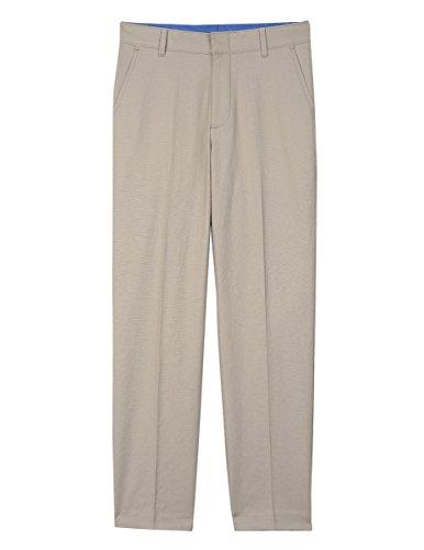 IZOD Big Boys' Formal Dress Pant, Light Stone Linen, 14