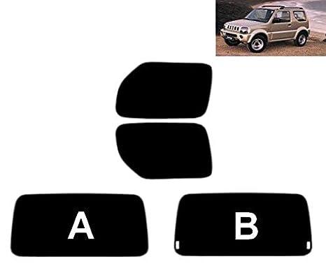 Pre Cut Window Tint Suzuki Jimny 3-doors 1998-2010 Rear Kit (50% Light Smoke, A)
