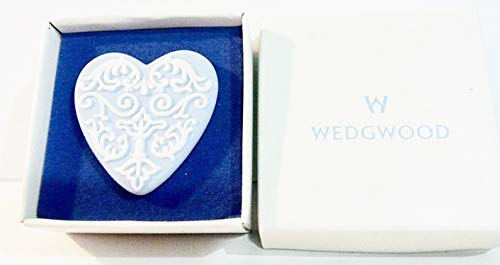 Wedgwood Jasperware Blue Heart Pin Brooch