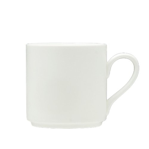 - Fortessa Fortaluxe SuperWhite Vitrified China Dinnerware, 12-Ounce Stackable Mug, Set of 6