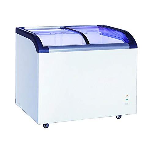 Adcraft BDCF-6-CG Black Diamond Chest Freezer, 6.4-Cubic Feet, Curved Sliding Glass Lid, ()