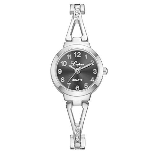 Dial Bangle Bracelet Watch - HunYUN Women's Diamond-Accented Bangle Watch Trend Casual Sanding Dial with Diamond Bracelet Belt Ladies Quartz Watch Customized Gift