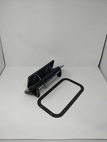 Black Aluminum Popup Vent Horse Trailer RV Air Flow Low Profile & Gasket ALPBLK (Aluminum Roof Mounted Vent)