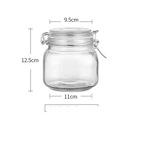 jar lemon honey jam transparent glass bottle with lid buckle -H 750ml ()