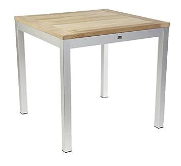 Jan Kurtz Quadrat Tisch Holz Teak Aluminium Natur 90 X 90