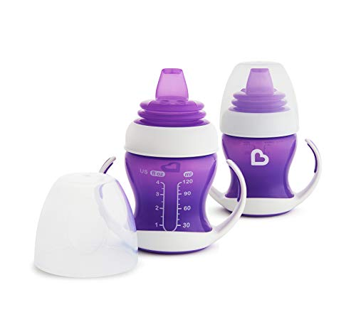Munchkin 2 Piece Gentle Transition Trainer Cup, 4 Ounce, Purple