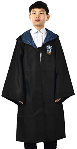 - Miliano Embroidered Hooded Cloak Robe Cosplay Costume Kids/Audlt Size