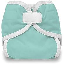 Thirsties Hook and Loop Diaper Cover, Aqua, Newborn/Preemie